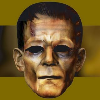 3D+papercraft+Frankenstein+monster+mask+