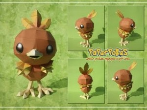 torchic paper craft