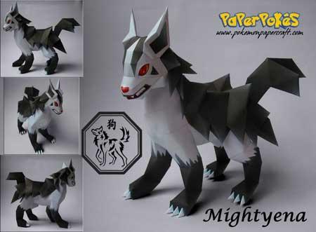 mightyena papercraft