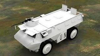 Vahiculo de avanzada de la ONU