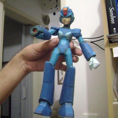 megaman x8 papercraft