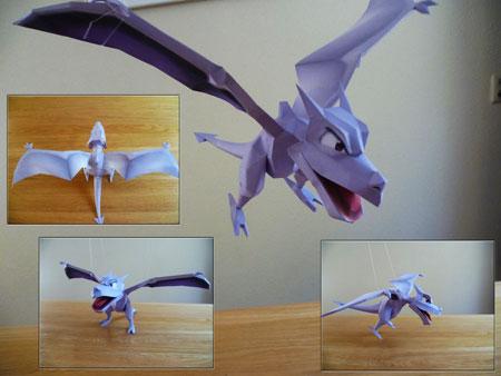 Aerodactyl papercraft - Ptera pokemon y ...