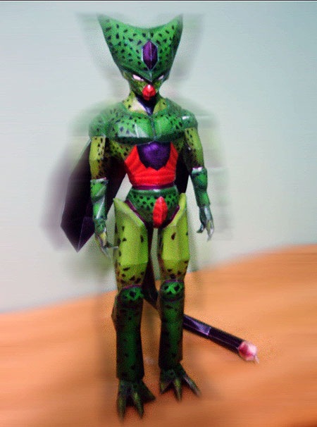 dragon+ball+z+imperfect+cell+papercraft