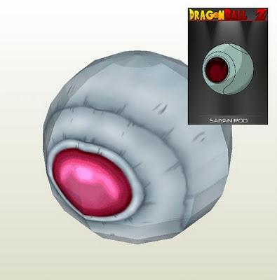 dragon ball z saiyan space pod papercraft