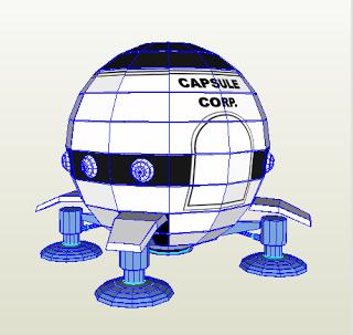 Capsule Corporation Spaceship Papercraft