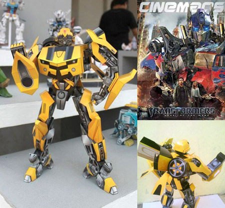 bumblebee+paper+toy