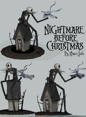 Nightmare Before Christmas Diorama Papercraft