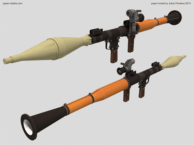 Life Size RPG-7 Launcher Papercraft
