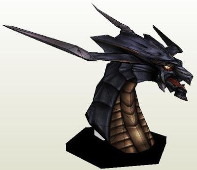 Final Fantasy Bahamut Bust Papercraft