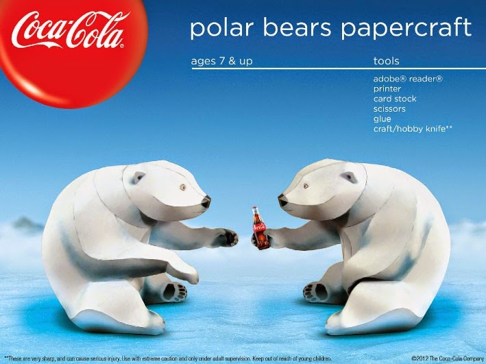 Coca-Cola Polar Bears Papercraft