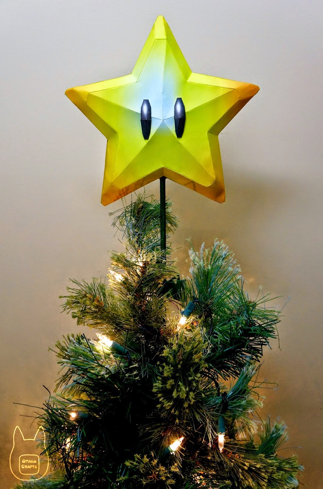 Mario Super Star Tree Topper Papercraft