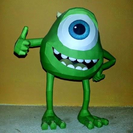 Pixar-Mike-Wazowski-Papercraft