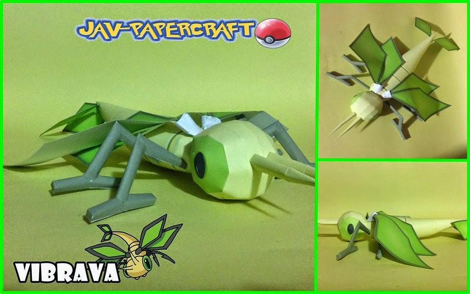 Pokemon Vibrava Papercraft