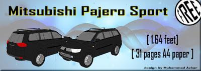 Mitsubishi Pajero Sport Papercraft