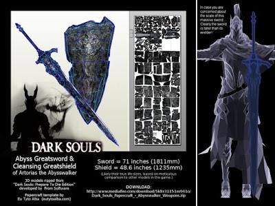 Dark Souls - Abysswalker Greatsword & Cleansing Greatshield Papercraft