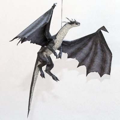 Drakan-Grey-Dragon-Papercraft