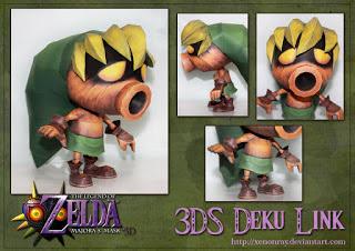 Majora's Mask 3DS Deku Link Papercraft