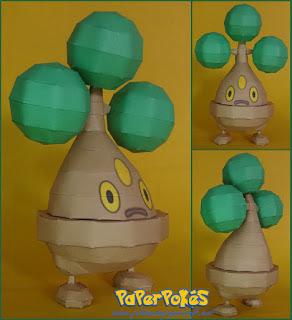 Pokemon Bonsly Papercraft