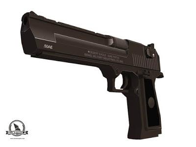 Desert Eagle Pistol Papercraft