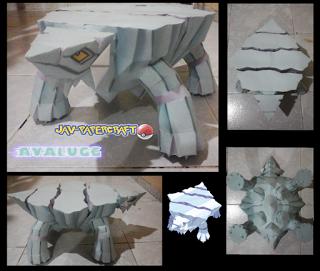 Pokemon Avalugg Papercraft