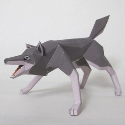 papercraft-wolf