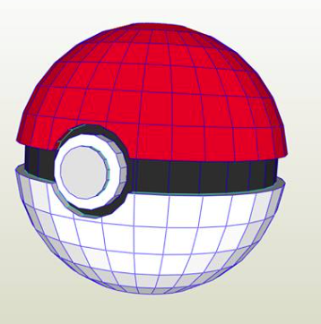 Pokebola papercraft