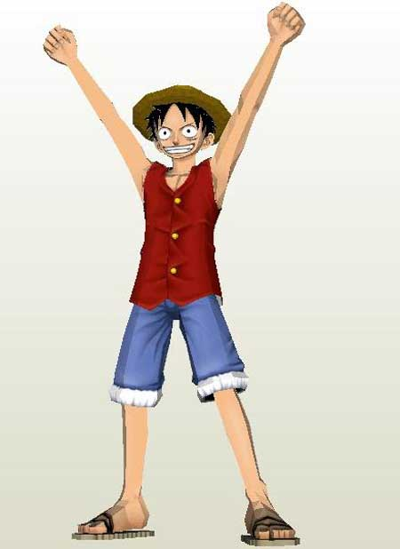 One Piece Monkey D Luffy Papercraft Papercraft