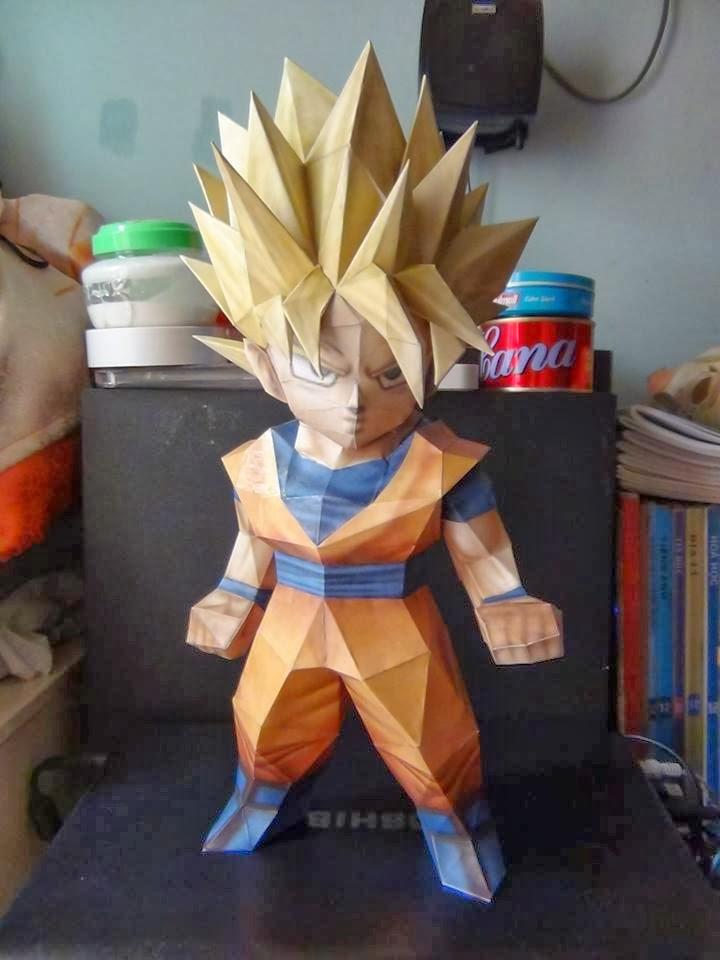 Chibi Goku Ssj Papercraft