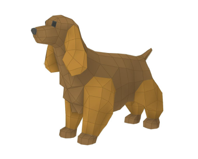 Cocker Spaniel papercraft