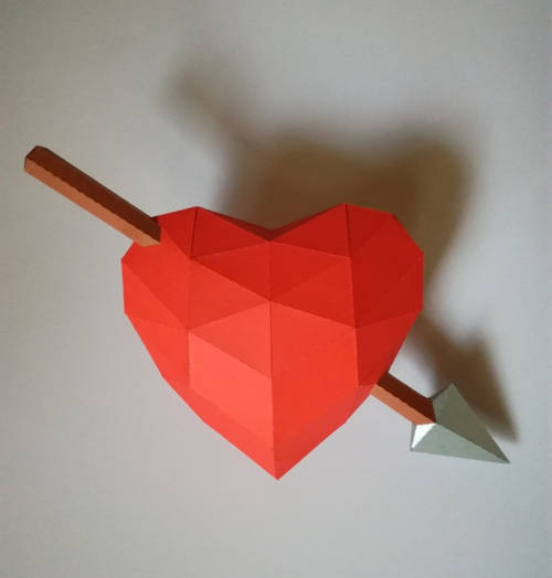Corazón papercraft