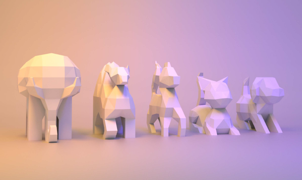 Animales papercraft Low Poly